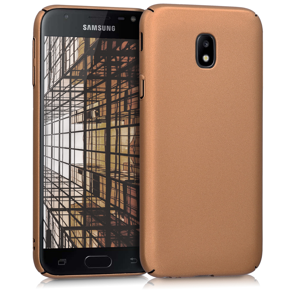 KW Slim Anti-Slip Cover - Σκληρή Θήκη Καουτσούκ Samsung Galaxy J3 (2017) - Metallic Copper (42760.27)
