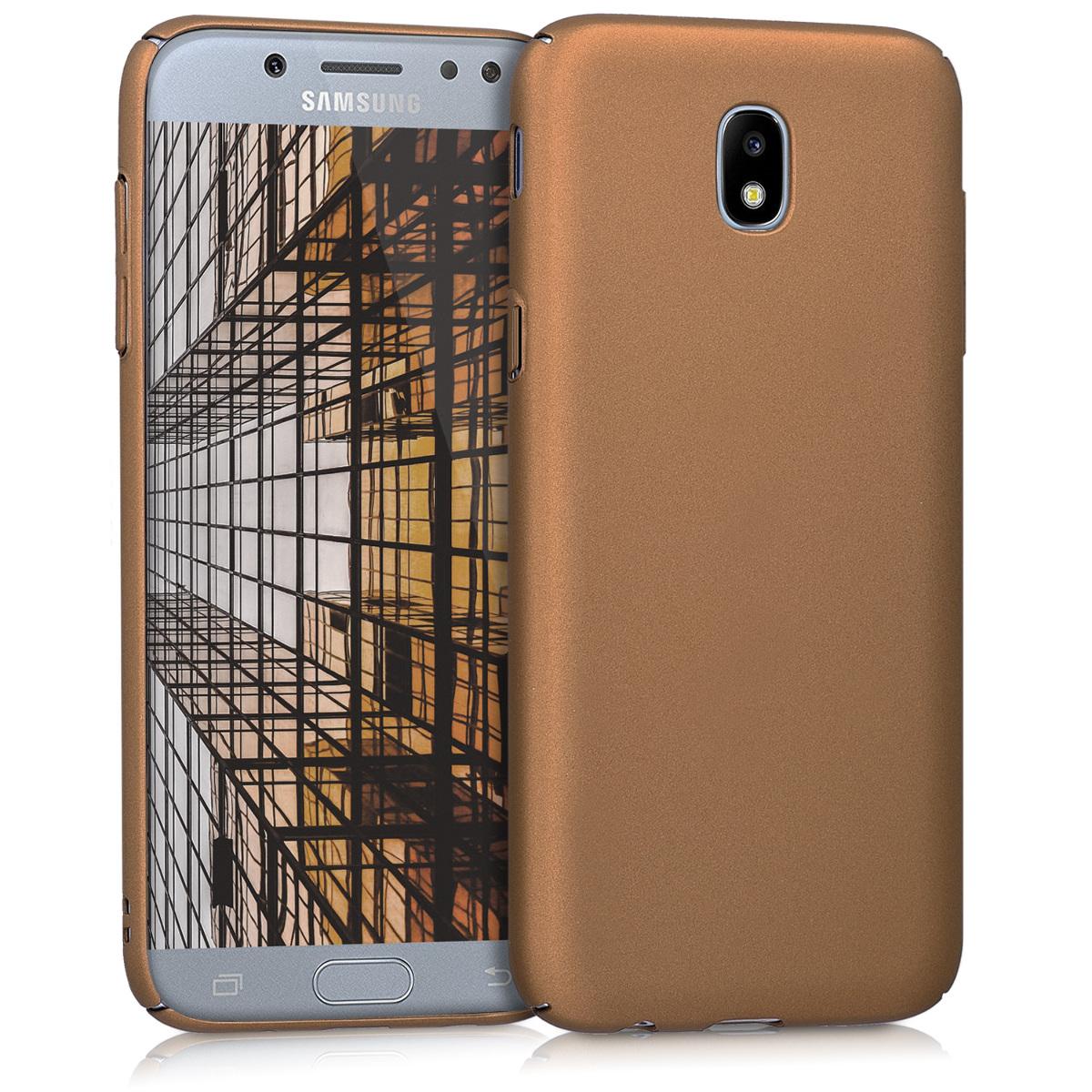 KW Slim Anti-Slip Cover - Σκληρή Θήκη Καουτσούκ Samsung Galaxy J5 (2017) - Καφέ μεταλλικό (42761.27)