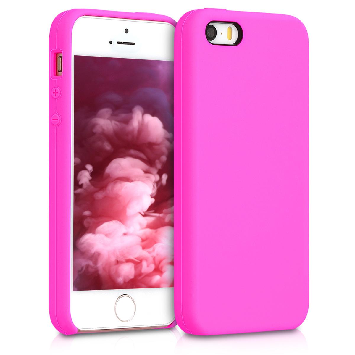 KW TPU Θήκη Σιλικόνης - Apple iPhone SE / 5 / 5S - Magenta (42766.135)