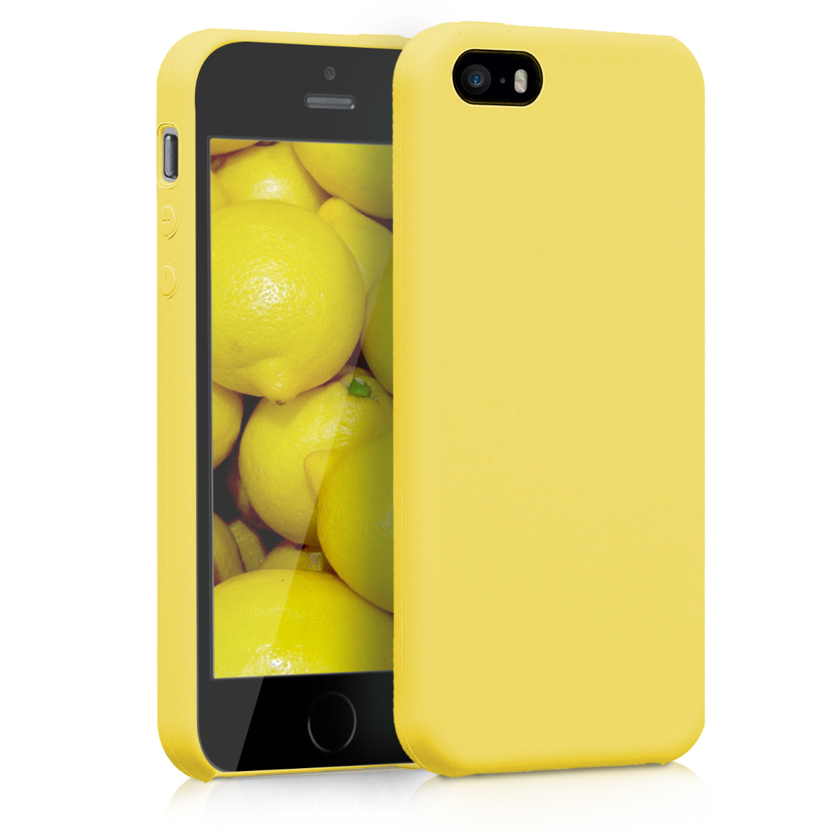KW TPU Θήκη Σιλικόνης Apple iPhone SE / 5 / 5S - Soft Flexible Rubber - Yellow Matte (42766.49)