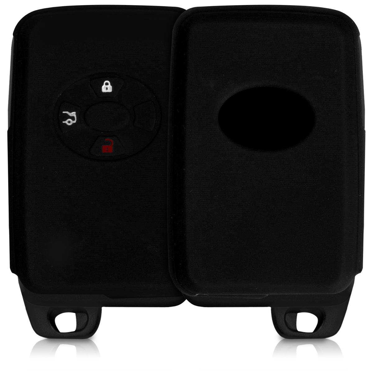 KW Silicone Θήκη Κλειδιού Toyota - 4 Κουμπιά - Black (42790.01)
