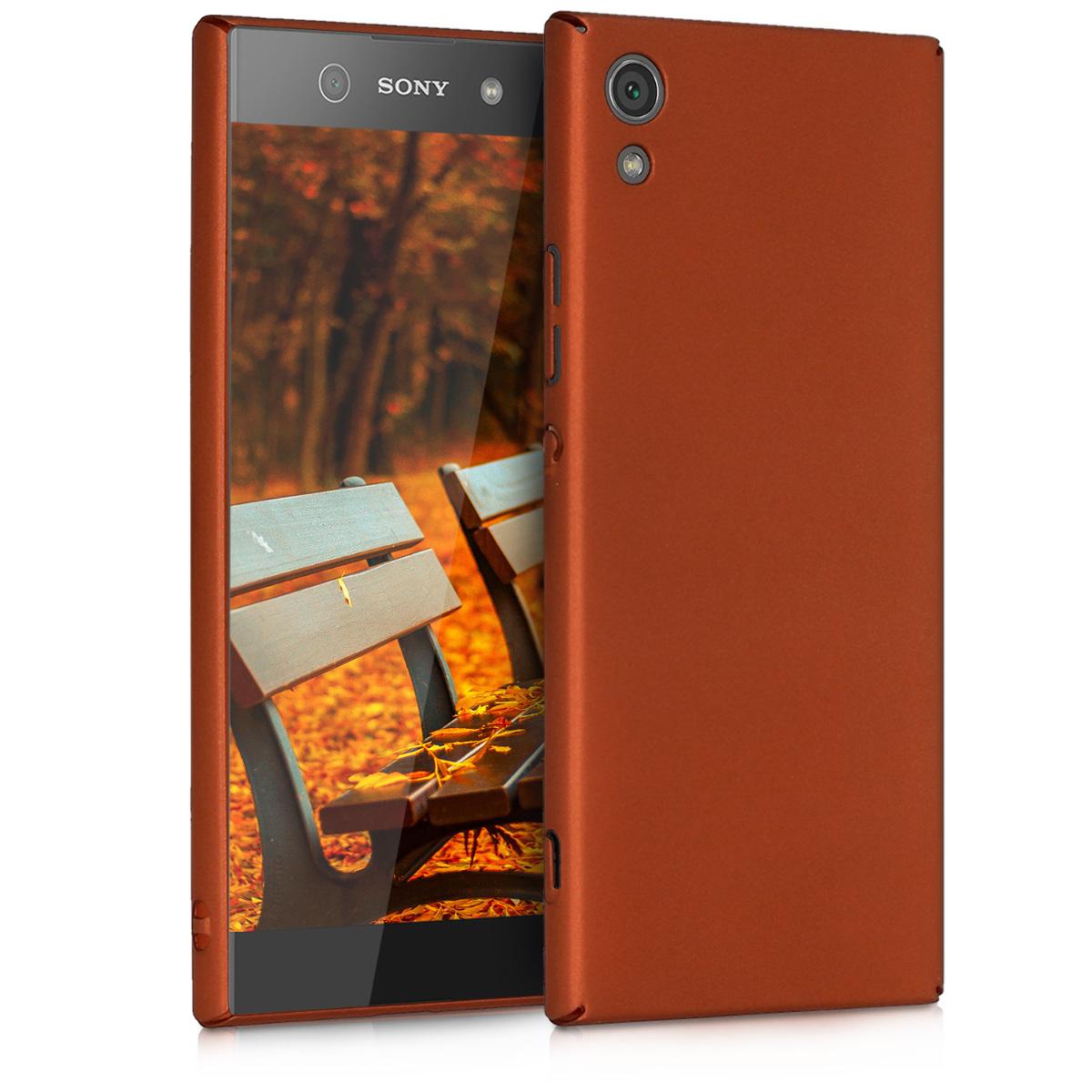 KW Slim Anti-Slip Cover - Σκληρή Θήκη Καουτσούκ Sony Xperia XA1 - Χάλκινο /Μεταλλικό (42870.27)