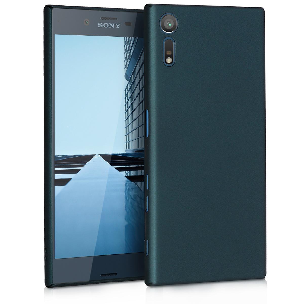 KW Slim Anti-Slip Cover - Σκληρή Θήκη Καουτσούκ Sony Xperia XZ / XZs - Τυρκουαζ μεταλλικό (42871.14)