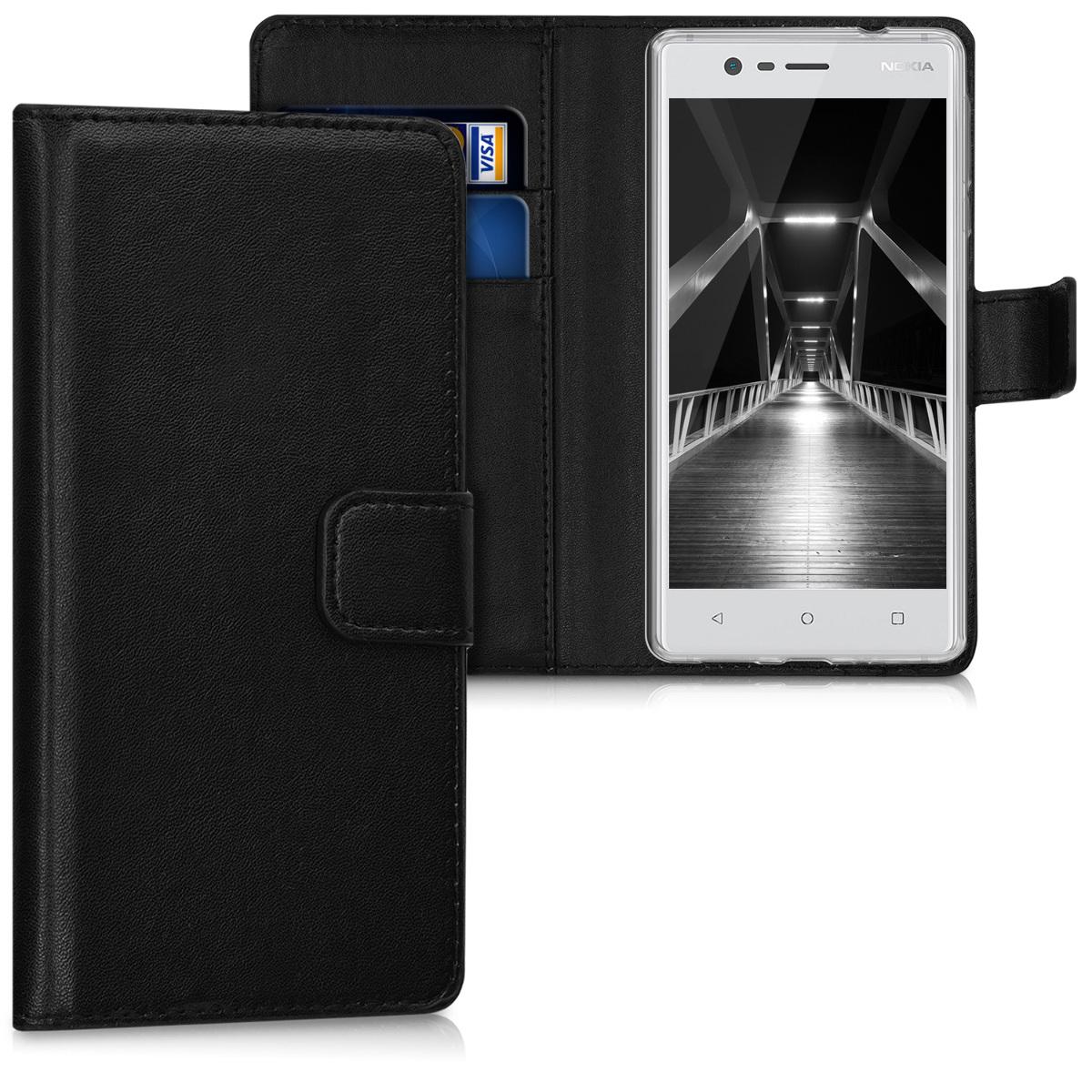 KW Θήκη - Πορτοφόλι Nokia 3 - Black (42881.01)