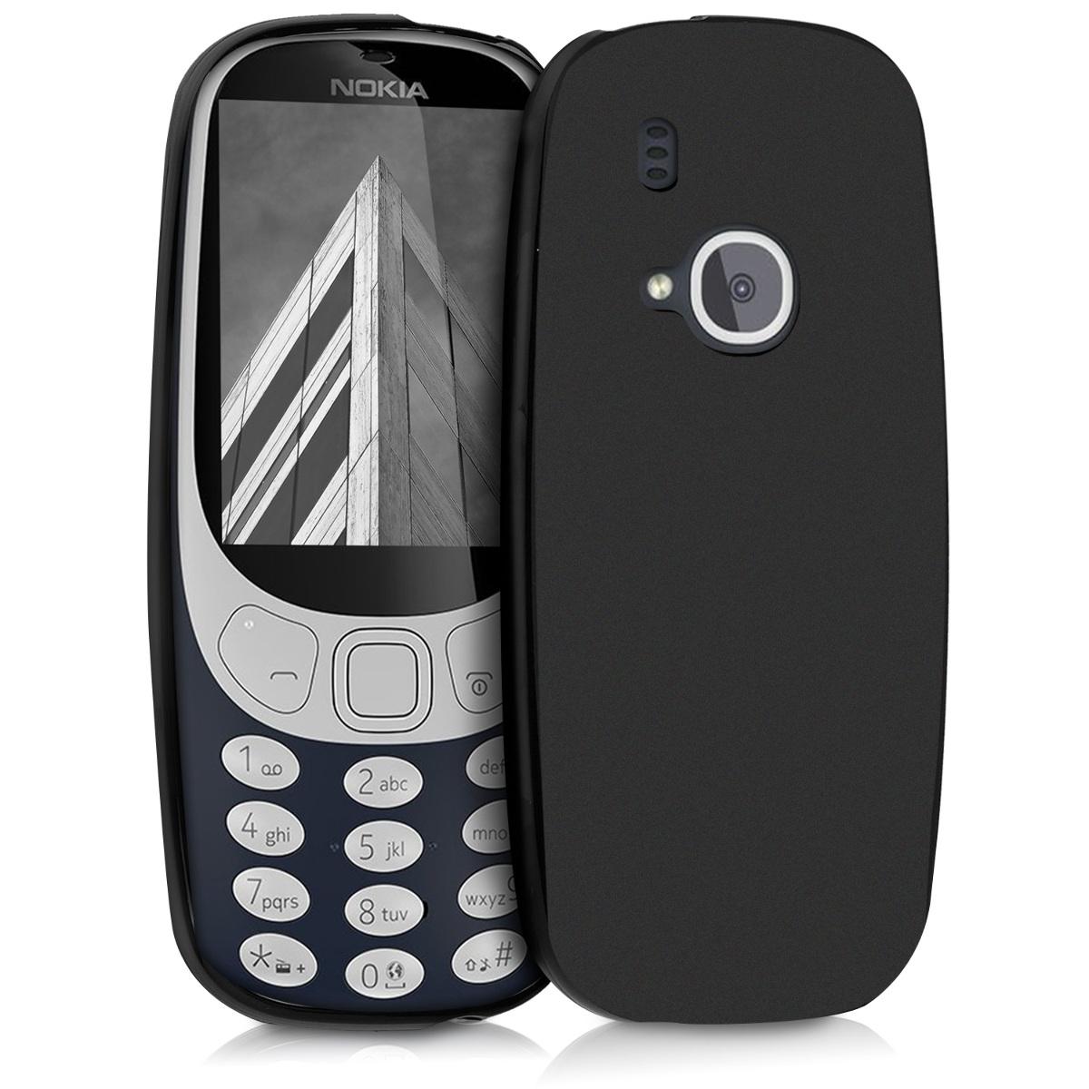 KW Θήκη Σιλικόνης Nokia 3310 (2017) - Black Matte (42884.47)