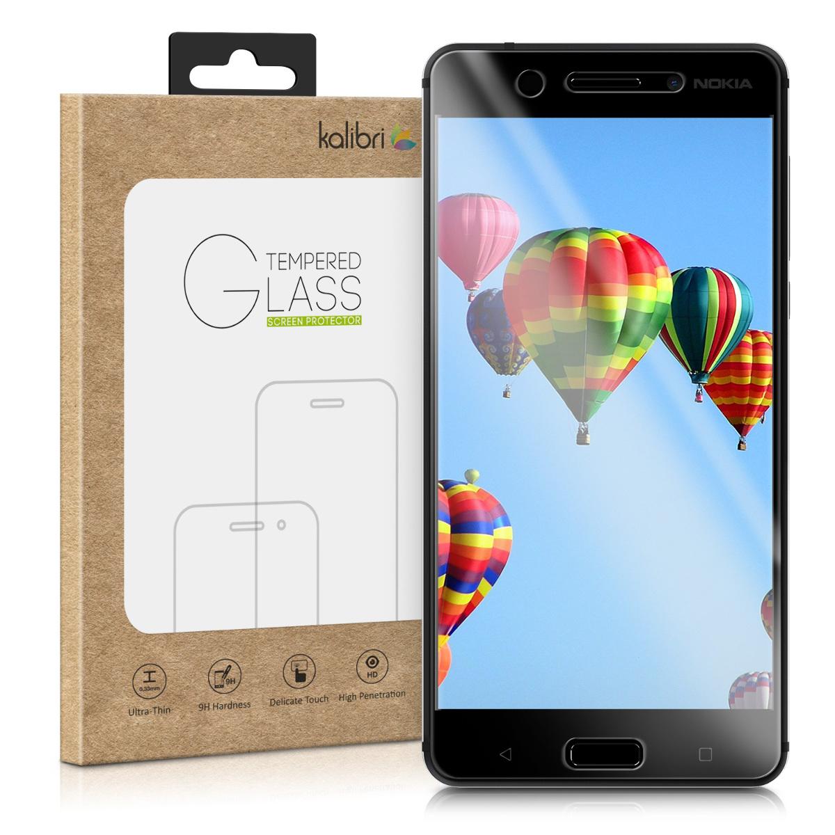 Kalibri Tempered Glass - Fullface Αντιχαρακτικό Γυαλί Οθόνης Nokia 5 - Black Frame (42886.01)