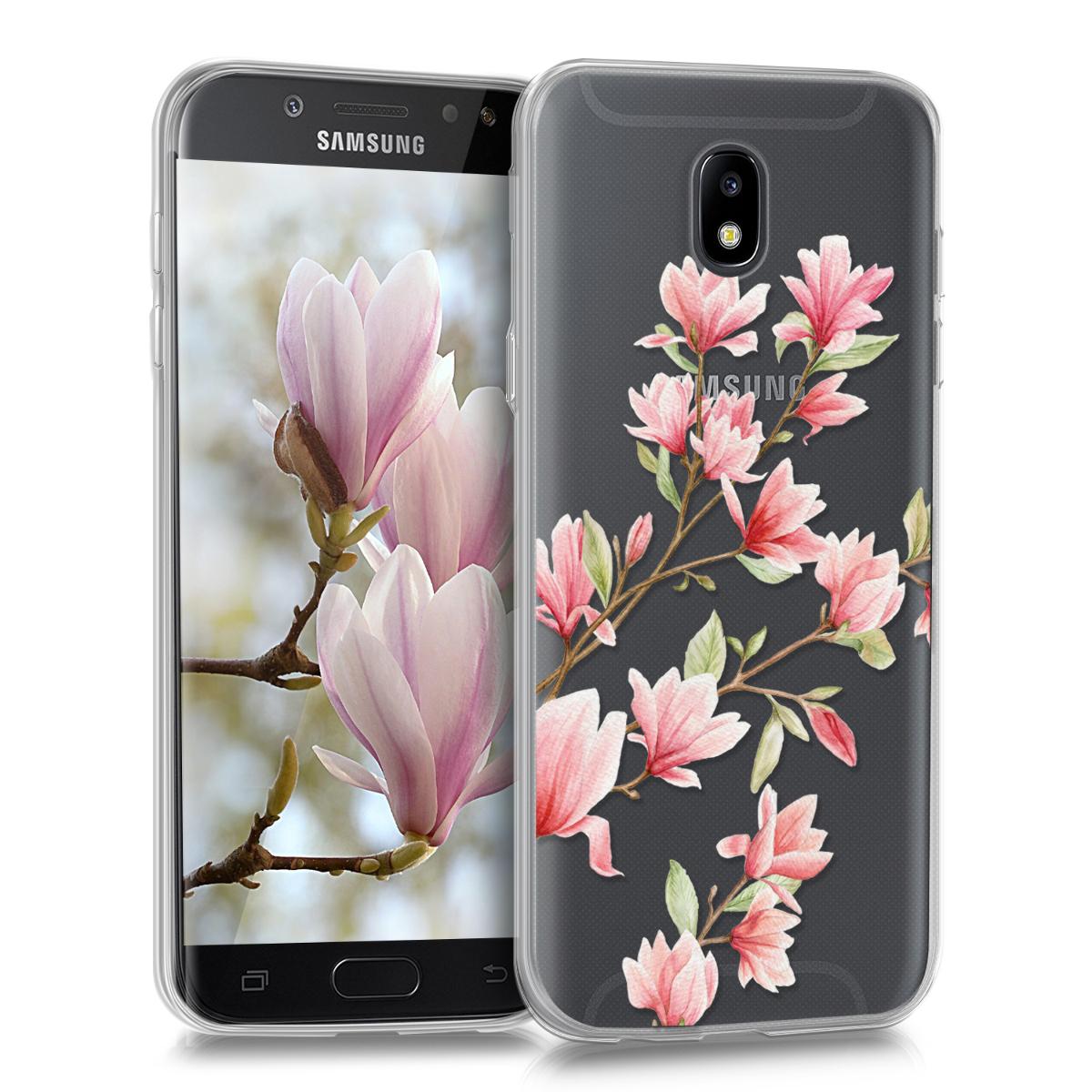 KW Θήκη Σιλικόνης Samsung Galaxy J5 (2017) - Διάφανη με σχέδιο λουλουδιών (42906.07)