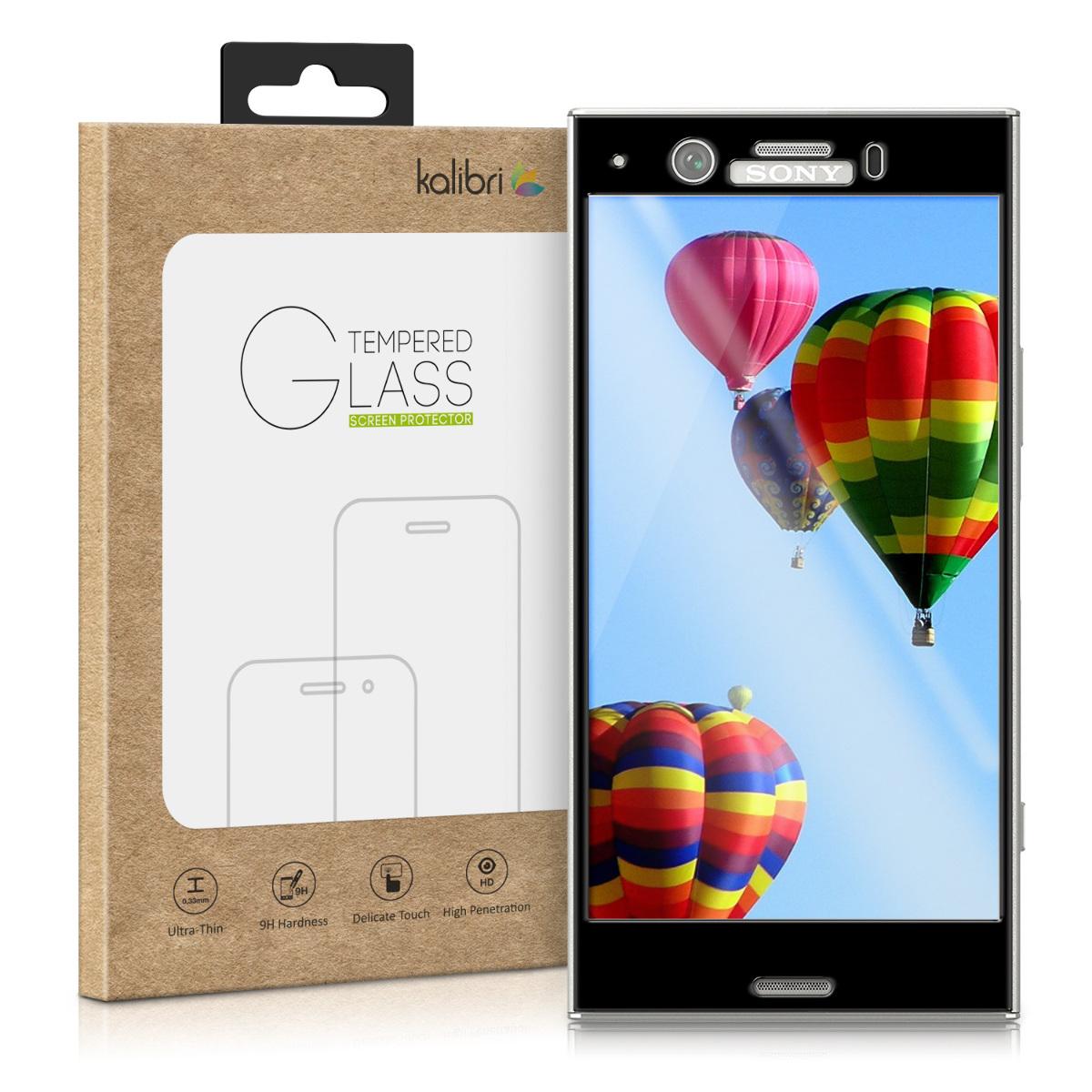 Kalibri Tempered Glass - Fullface Αντιχαρακτικό Γυαλί Οθόνης Sony Xperia XZ1 Compact - Black (42937.01)