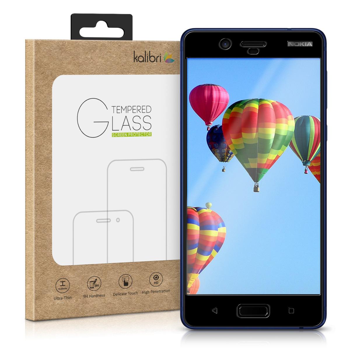 Kalibri Tempered Glass - Fullface Αντιχαρακτικό Γυαλί Οθόνης Nokia 8 - Black Frame (42972.01)