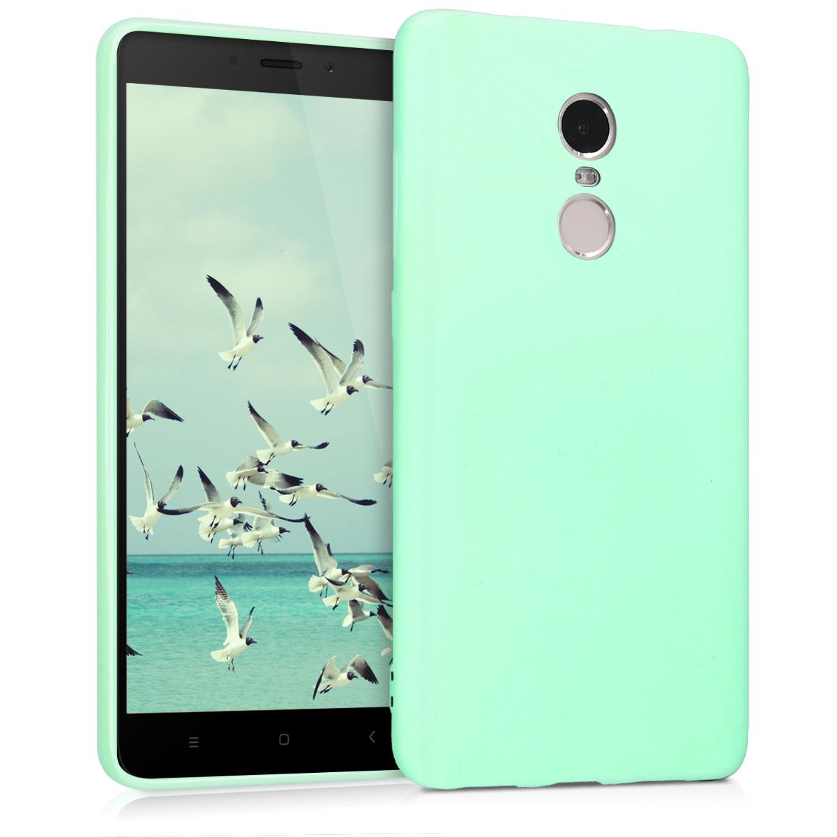 KW Θήκη Σιλικόνης Xiaomi Redmi Note 4 / Note 4X - Mint Matte (43020.50)