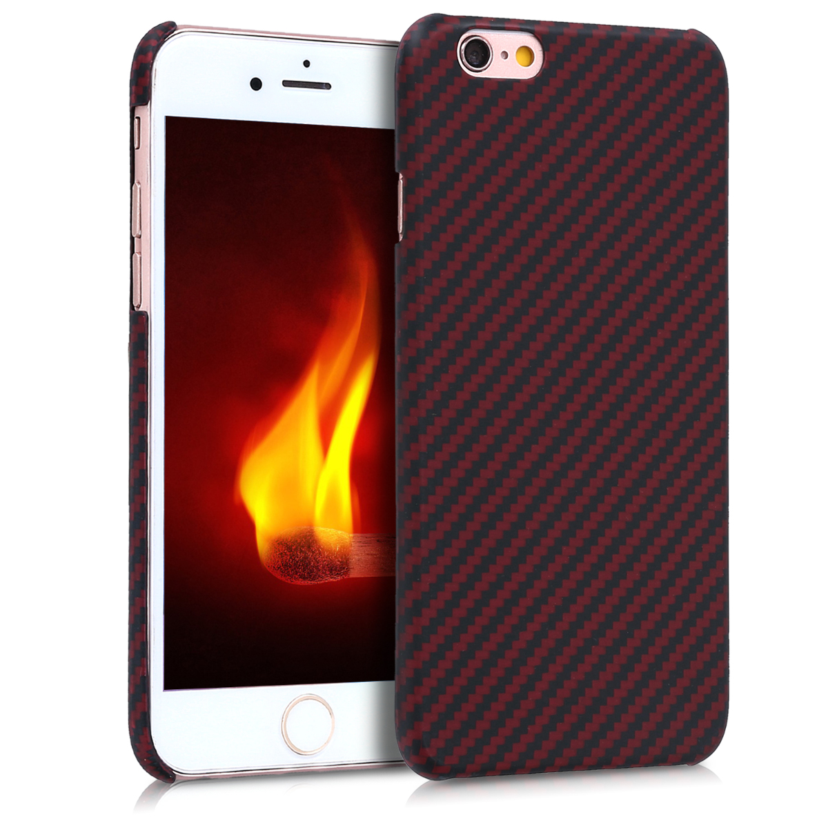 Kalibri Aramid Fiber Body - Σκληρή Θήκη iPhone 6 / 6S - Red / Black Matte (43110.51)