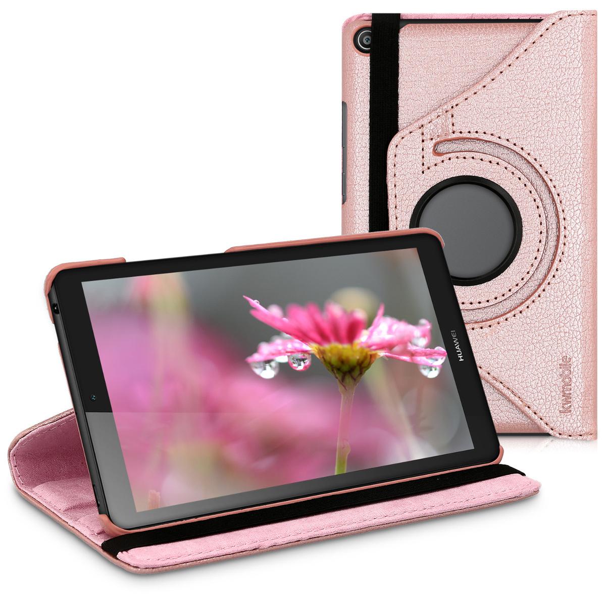 KW Θήκη 360° Huawei MediaPad T3 7.0 - Συνθετικό Δέρμα - Rose Gold (43161.81)