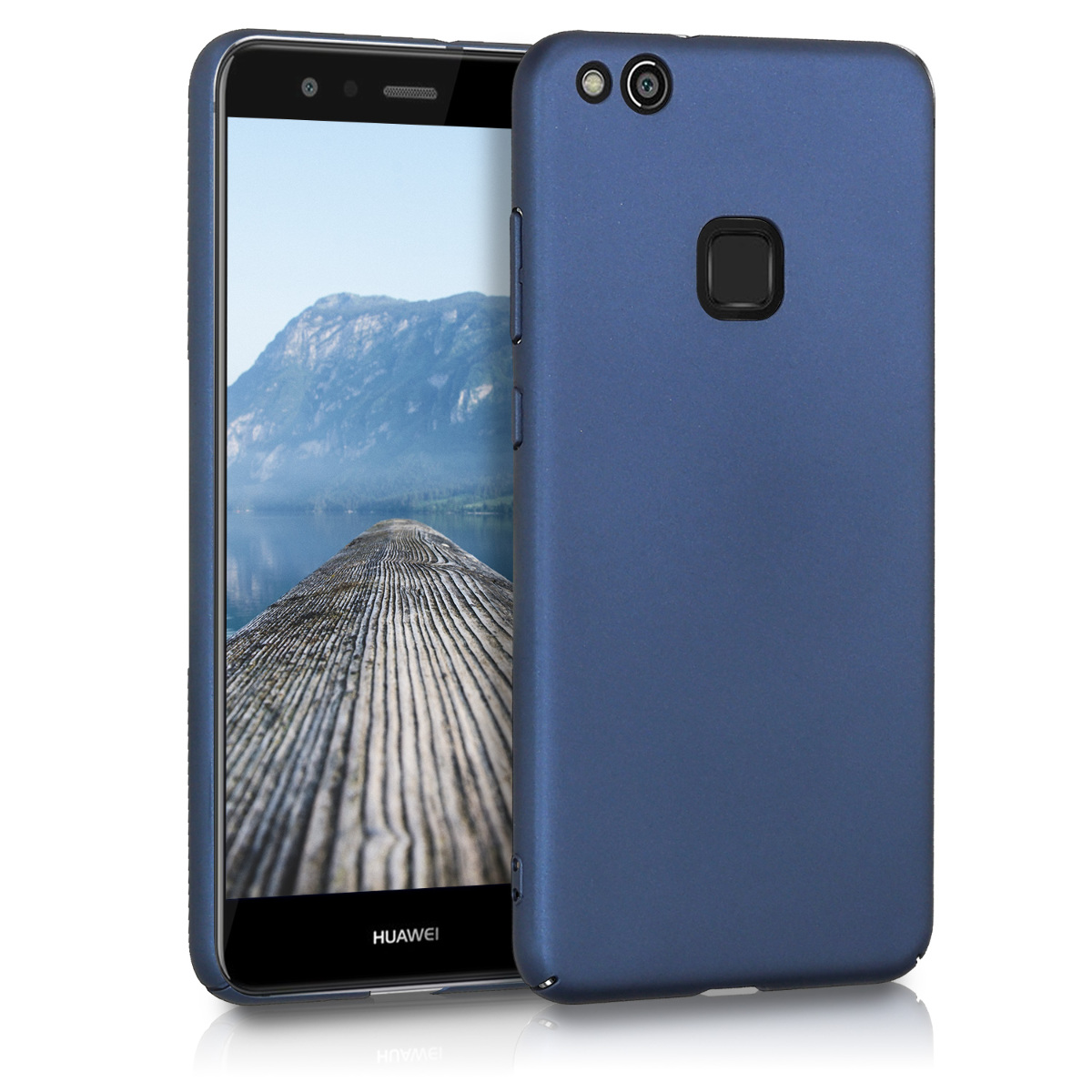 KW Slim Anti-Slip Cover - Σκληρή Θήκη Καουτσούκ Huawei P10 Lite - Σκούρο μπλε μεταλλικό (43232.53)