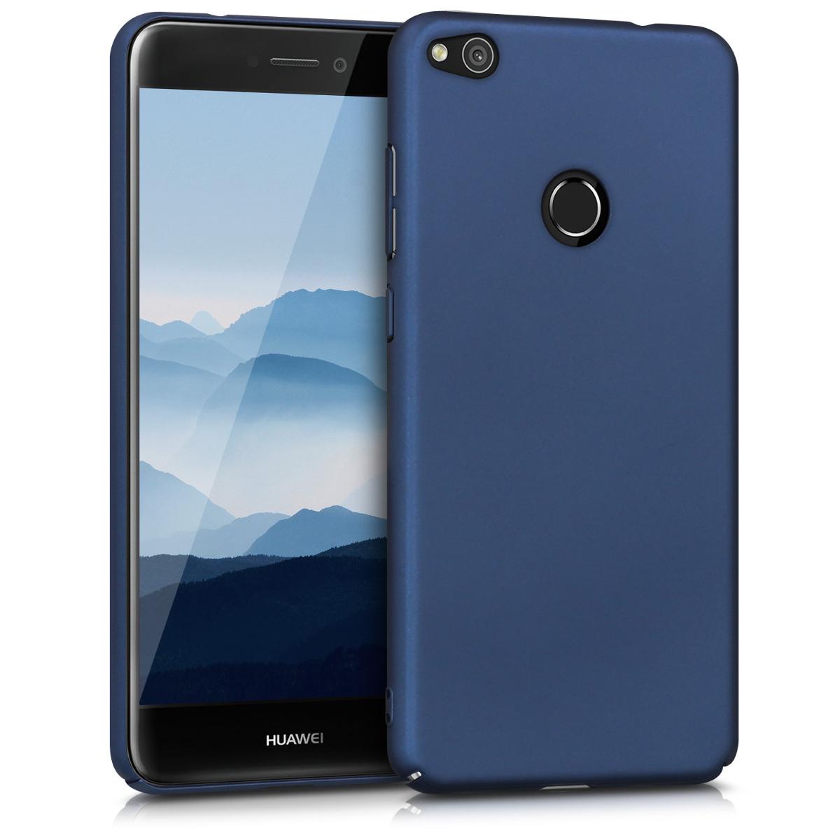 KW Slim Anti-Slip Cover - Σκληρή Θήκη Καουτσούκ Huawei P8 / P9 Lite (2017) - Σκούρο μπλε (43236.53)
