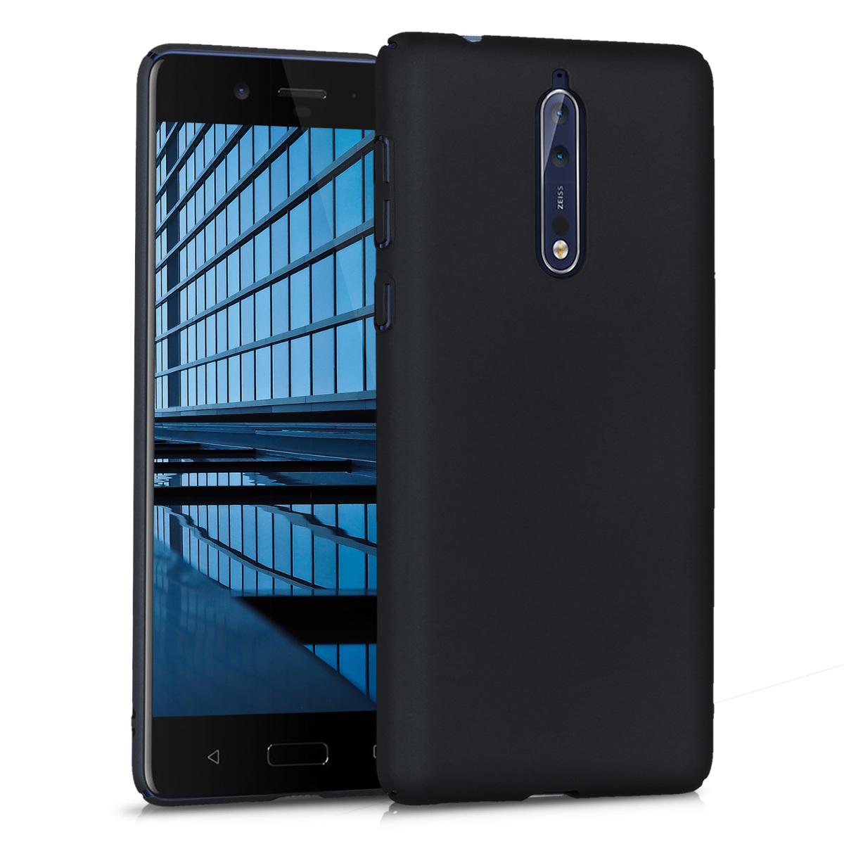 KW Slim Anti-Slip Cover - Σκληρή Θήκη Καουτσούκ Nokia 8 - Μαύρο (43239.47)