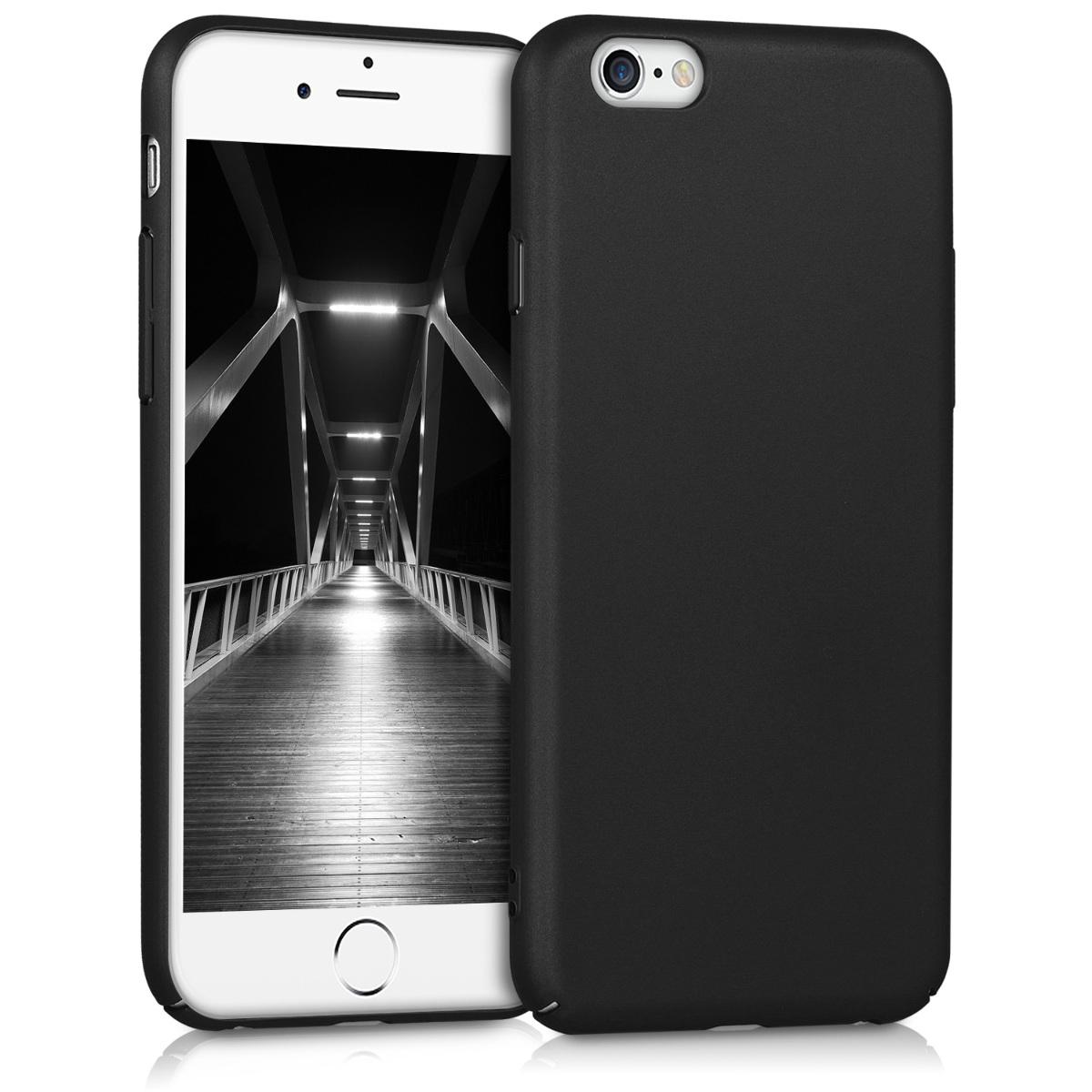 KW Slim Anti-Slip Cover - Σκληρή Θήκη Καουτσούκ iPhone 6/6s - Μαύρο (43258.47)