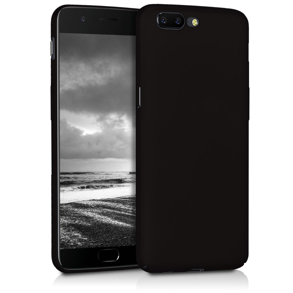 KW Slim Anti-Slip Cover - Σκληρή Θήκη Καουτσούκ OnePlus 5 - Μαύρο  (43259.47)