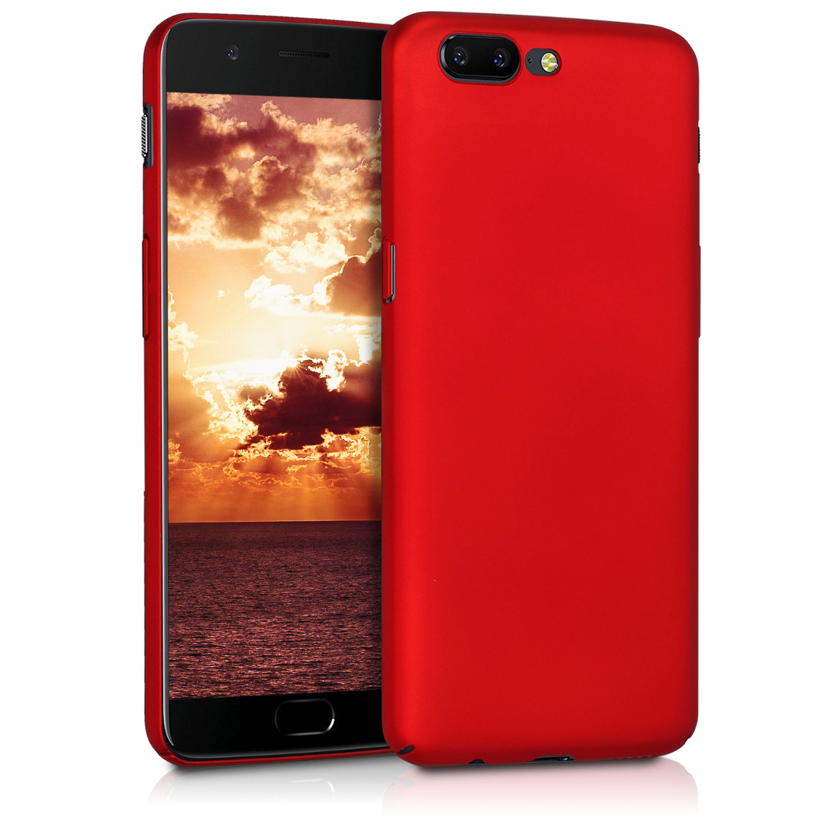 KW Slim Anti-Slip Cover - Σκληρή Θήκη Καουτσούκ OnePlus 5 - Red Matte (43259.51)