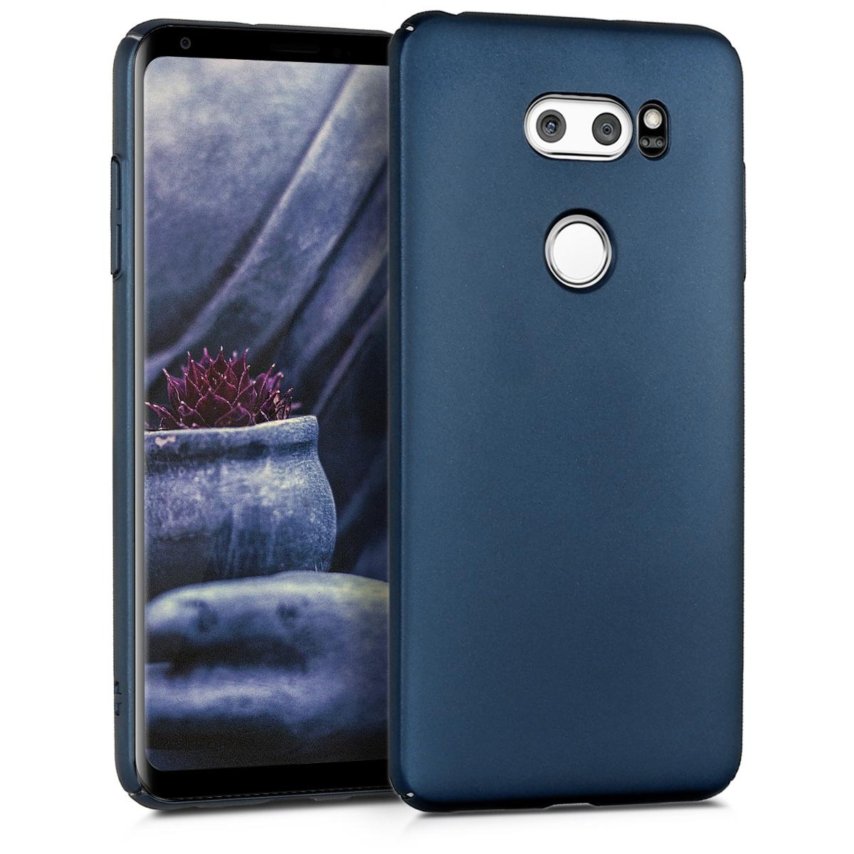 KW Slim Anti-Slip Cover - Σκληρή Θήκη Καουτσούκ LG V30 - Metallic Dark Blue (43276.99)