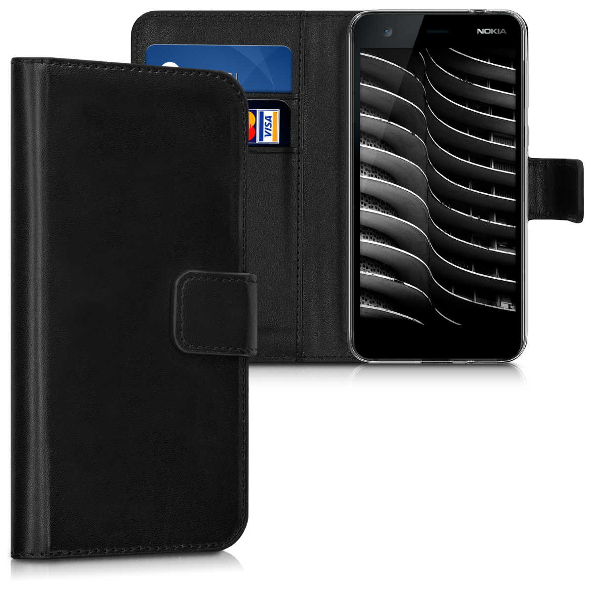 KW Θήκη Πορτοφόλι Nokia 2 - Black (43303.01)