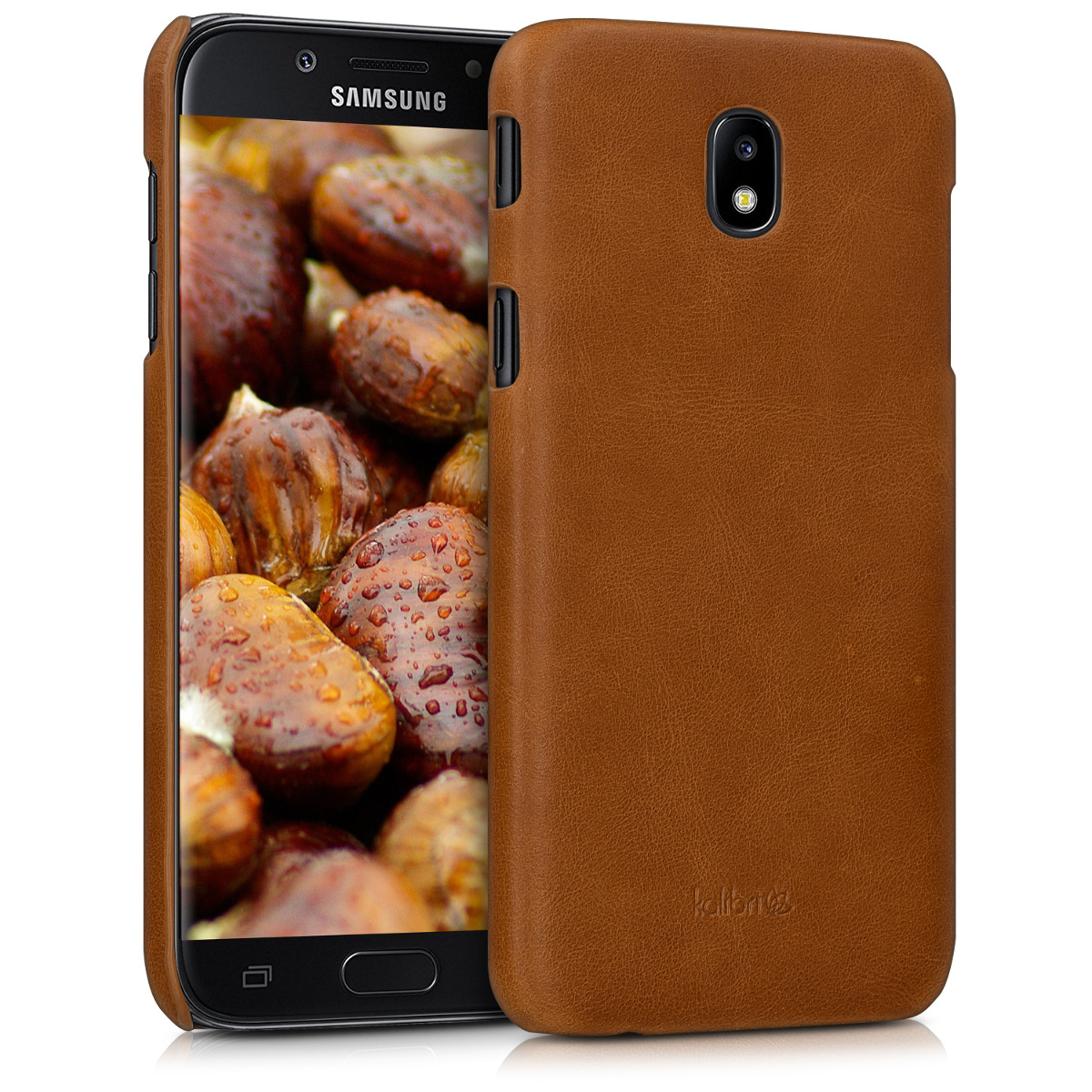 Kalibri Σκληρή Δερμάτινη Θήκη Samsung Galaxy J5 2017 - Cognac (43334.83)