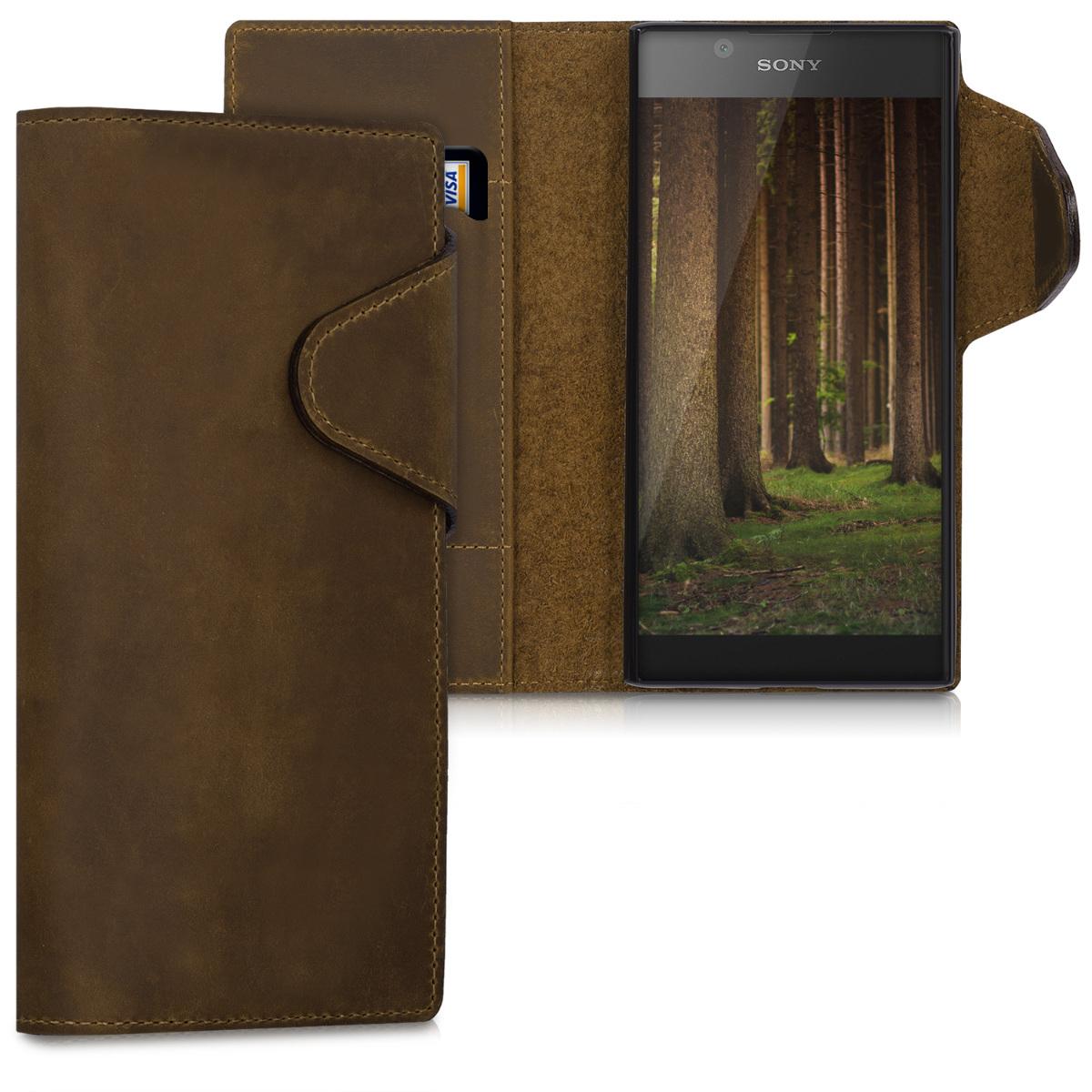 Kalibri δερμάτινη θήκη-πορτοφόλι-Sony Xperia L1/ Καφέ (43449.05)