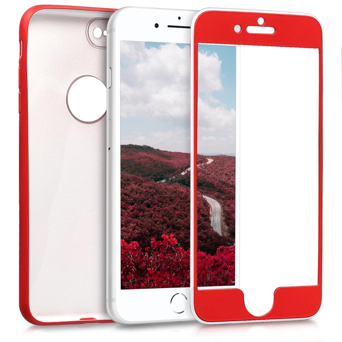 KW Θήκη Full Body iPhone 8 Plus - Metallic Dark Red (43478.36)
