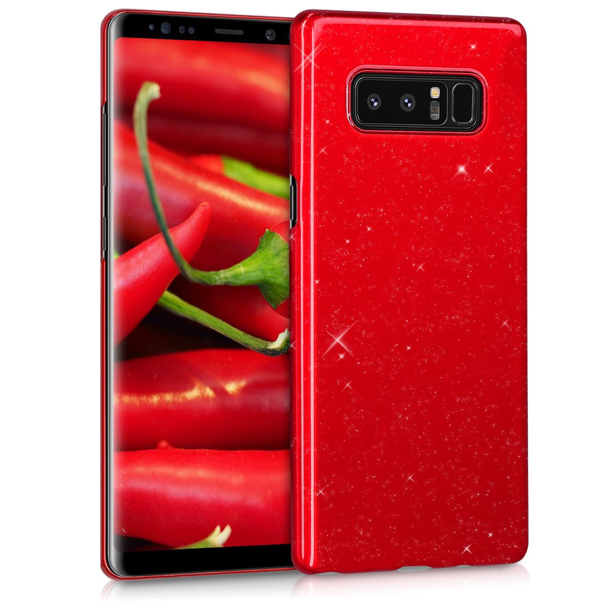 KW Slim Anti-Slip Cover - Σκληρή Θήκη Καουτσούκ Samsung Galaxy Note 8 - Κόκκινο (43490.97)