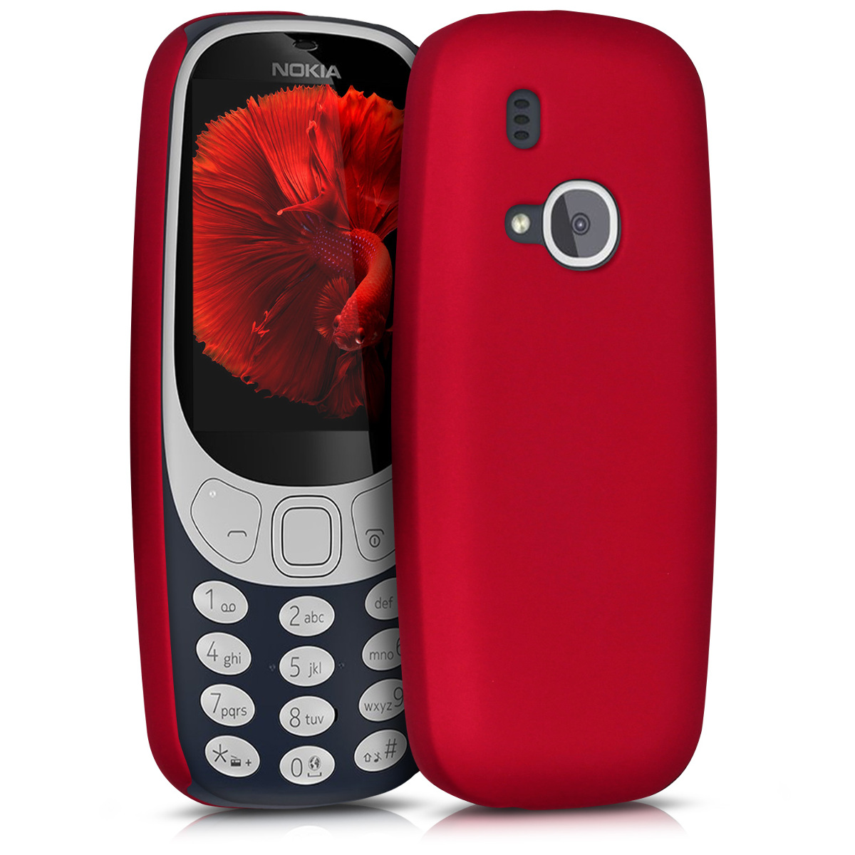 KW Slim Anti-Slip Cover - Σκληρή Θήκη Καουτσούκ Nokia 3310 (2017) - Metallic Dark Red (43532.20)