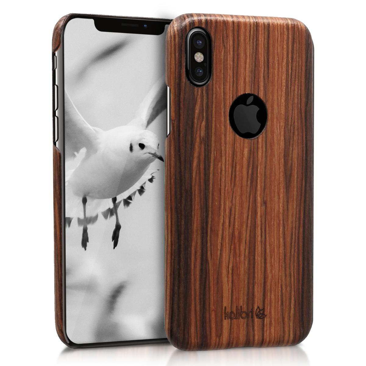 Kalibri Ξύλινη Θήκη iPhone X - Brown (43576.05)