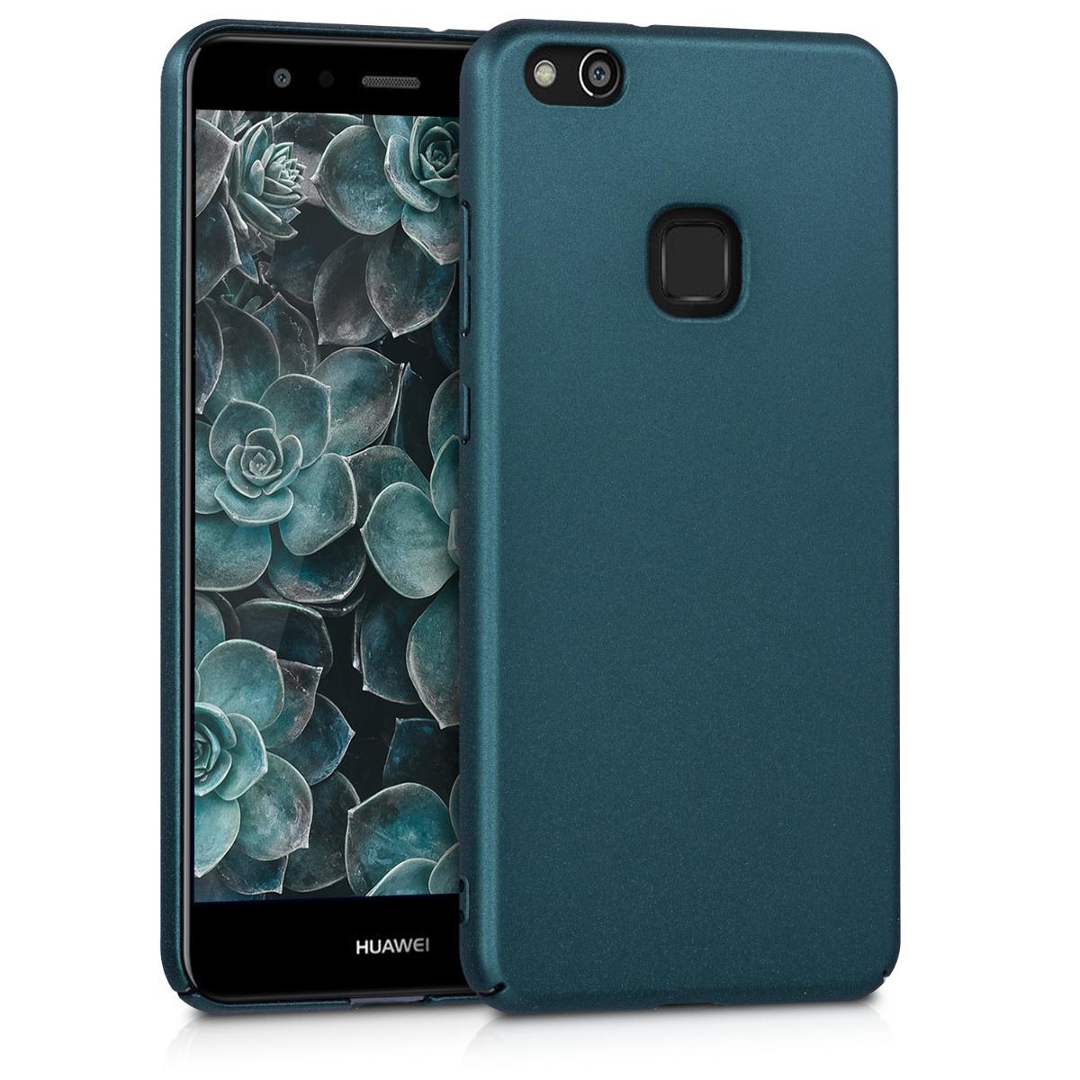 KW Slim Anti-Slip Cover - Σκληρή Θήκη Καουτσούκ Huawei P10 Lite - Τυρκουαζ μεταλλικό (43596.78)