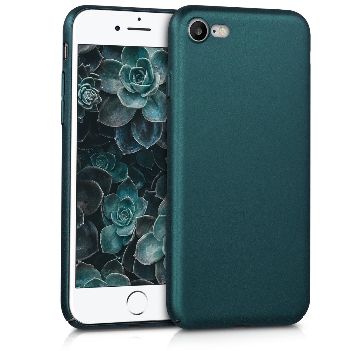 KW Slim Anti-Slip Cover - Σκληρή Θήκη Καουτσούκ iPhone 8 / 7 - Metallic Teal (43629.14)