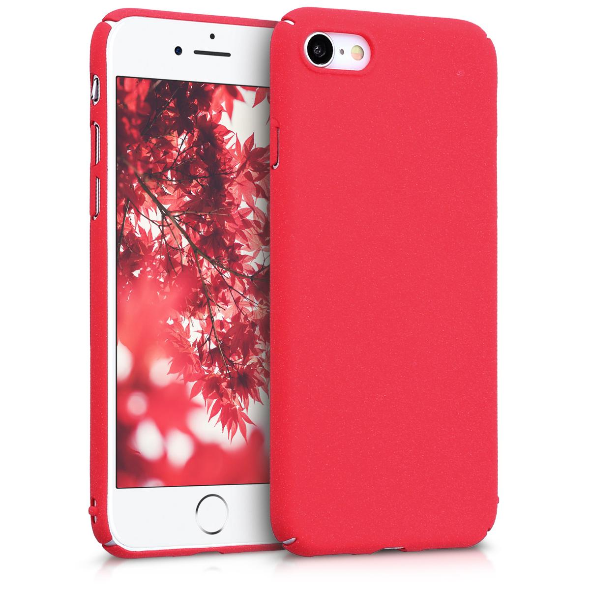 KW Slim Anti-Slip Cover - Σκληρή Θήκη Καουτσούκ iPhone 8 / 7 - Metallic Dark Red (43629.36)