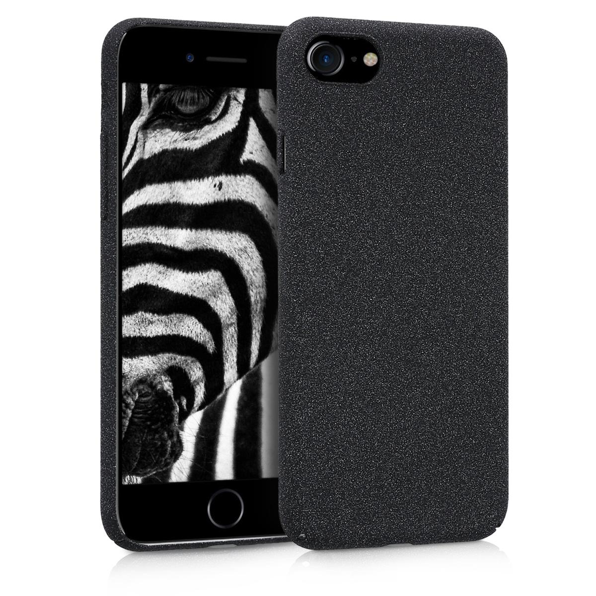 KW Slim Anti-Slip Cover - Σκληρή Θήκη Καουτσούκ iPhone 8 / 7 - Μαύρο μεταλλικό (43629.68)