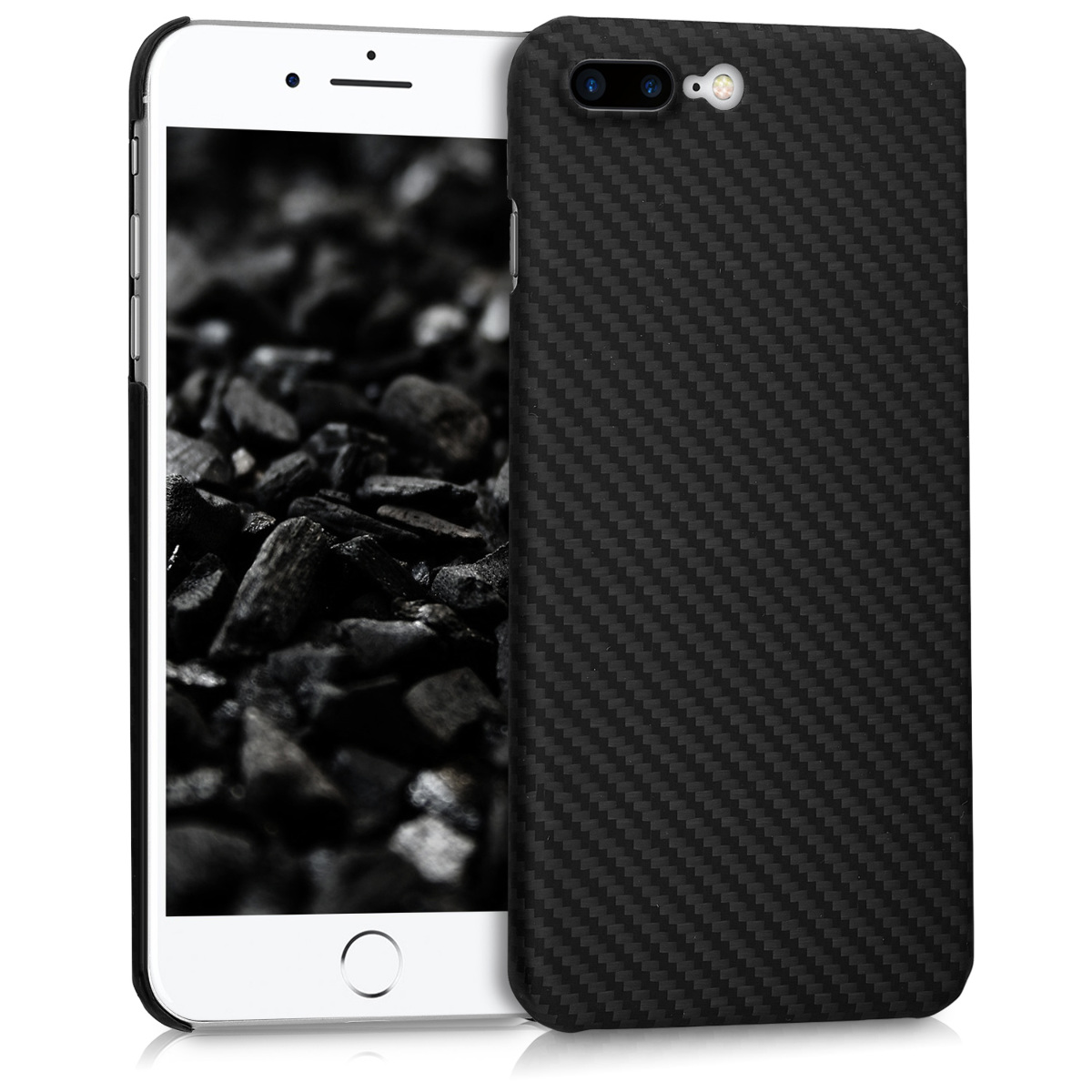 Kalibri Aramid Fiber Body - Σκληρή Θήκη iPhone 8 Plus / iPhone 7 Plus - Black Matte (43684.01)