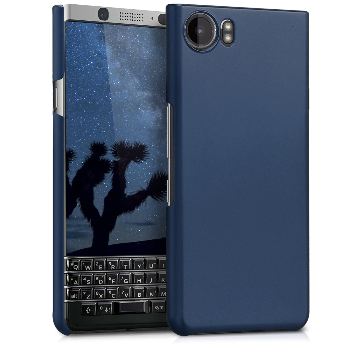 KW Slim Anti-Slip Cover - Σκληρή Θήκη Blackberry KeyOne - Metallic Blue (43693.64)