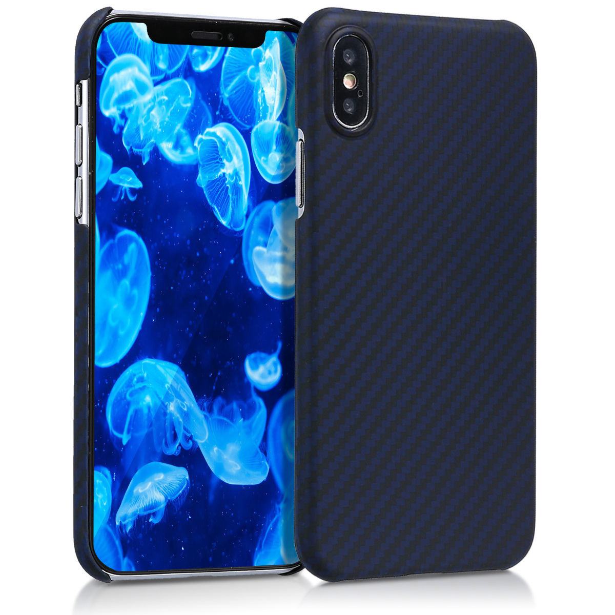 Kalibri Aramid Fiber Body - Σκληρή Θήκη Apple iPhone X / XS - Dark Blue Matte (43748.04)