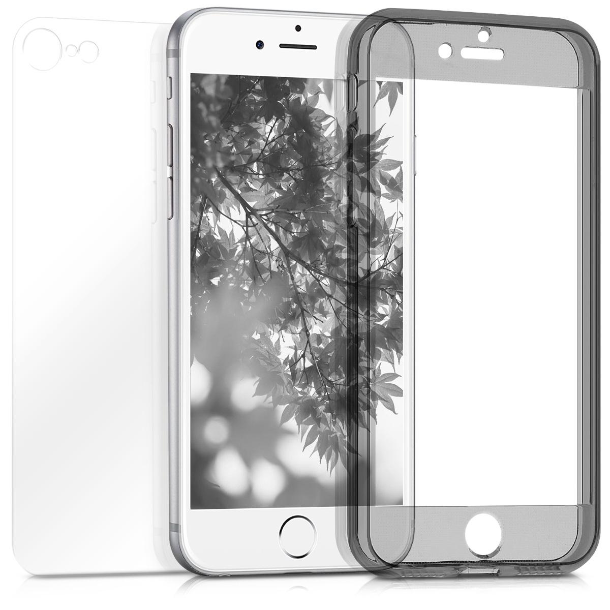 KW Θήκη Full Body iPhone 8 / 7 - Black / Transparent (43753.01)