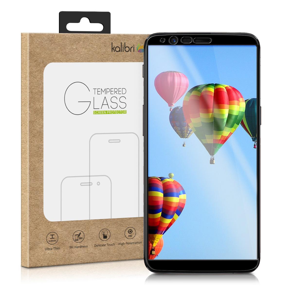 Kalibri Tempered Glass - Fullface Αντιχαρακτικό Γυαλί Οθόνης OnePlus 5T - Black (43759.01)