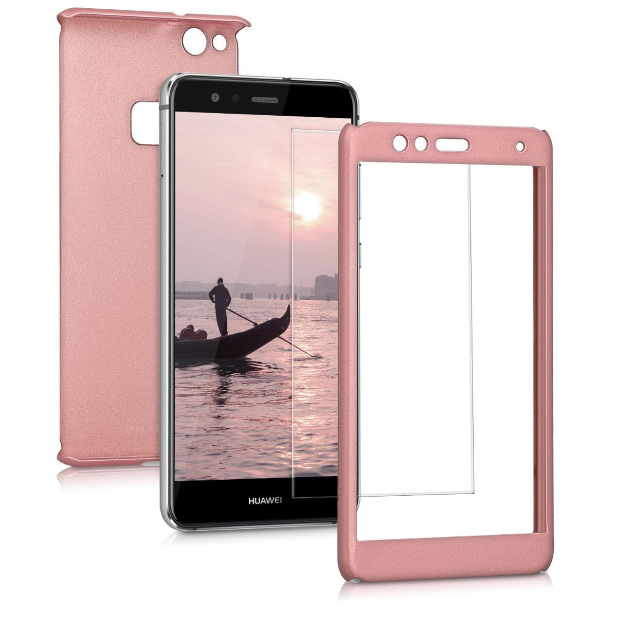 KW Θήκη Full Body Huawei P10 Lite & Tempered Glass - Metallic Rose Gold (43763.31)