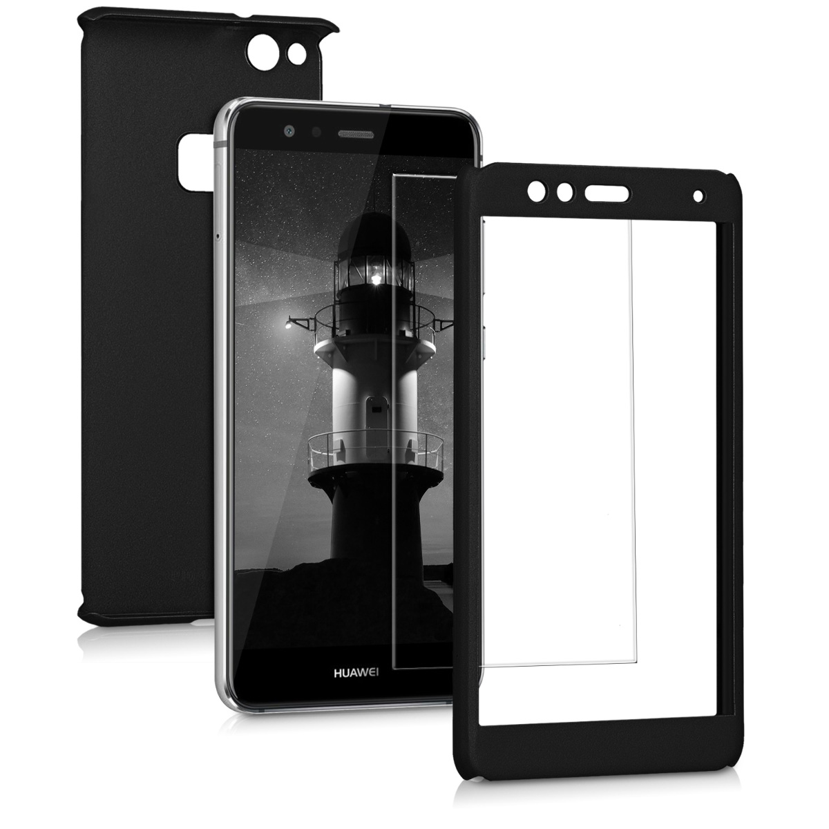 KW Θήκη Full Body Huawei P10 Lite & Tempered Glass - Metallic Black (43763.68)
