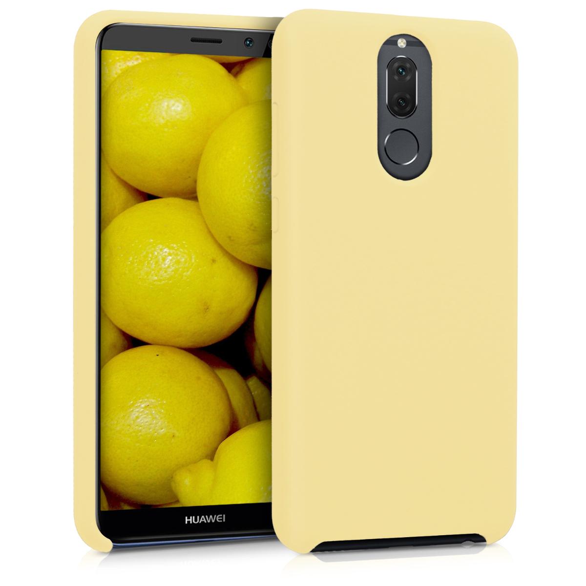 KW Θήκη Σιλικόνης Huawei Mate 10 Lite - Soft Flexible Rubber - Light Yellow (43768.158)