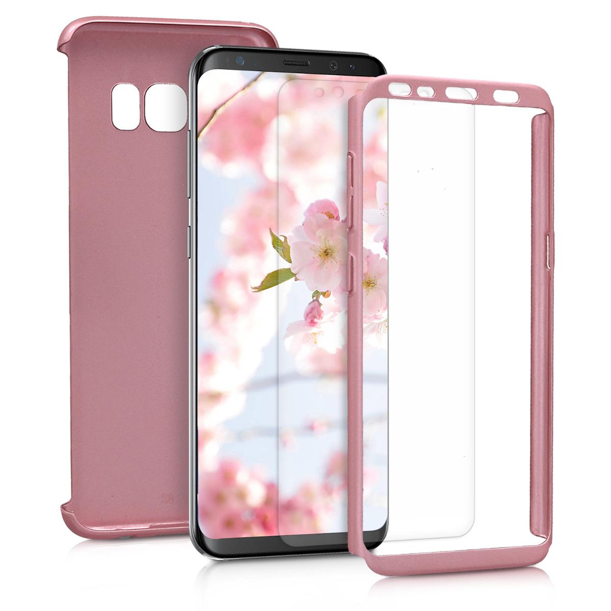 KW Θήκη Full Body για Samsung Galaxy S8 & Screen Protector - Μεταλλικό ροζ χαλκινο (43781.31)