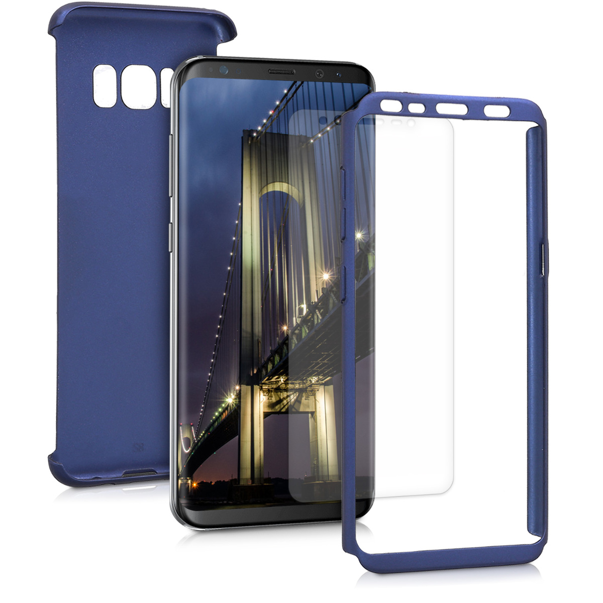 KW Θήκη Full Body Samsung Galaxy S8 & Screen Protector - Μπλε μεταλλικό (43781.64)