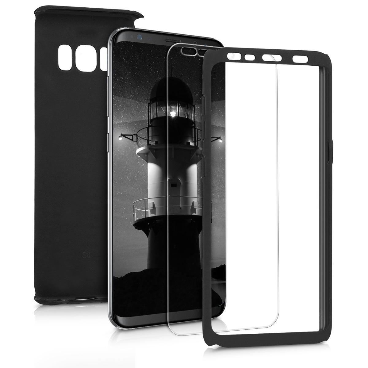 KW Θήκη Full Body για Samsung Galaxy S8 & Screen Protector - Metallic Black (43781.68)