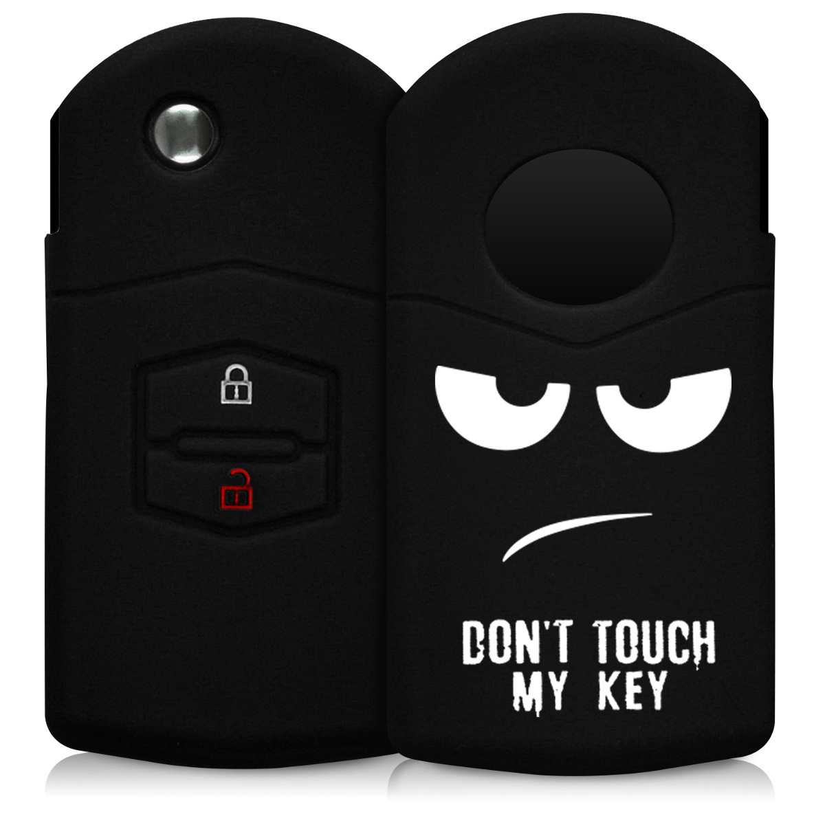KW Θήκη Κλειδιού Mazda - Σιλικόνη - 2 Κουμπιά - White / Black (43812.01)