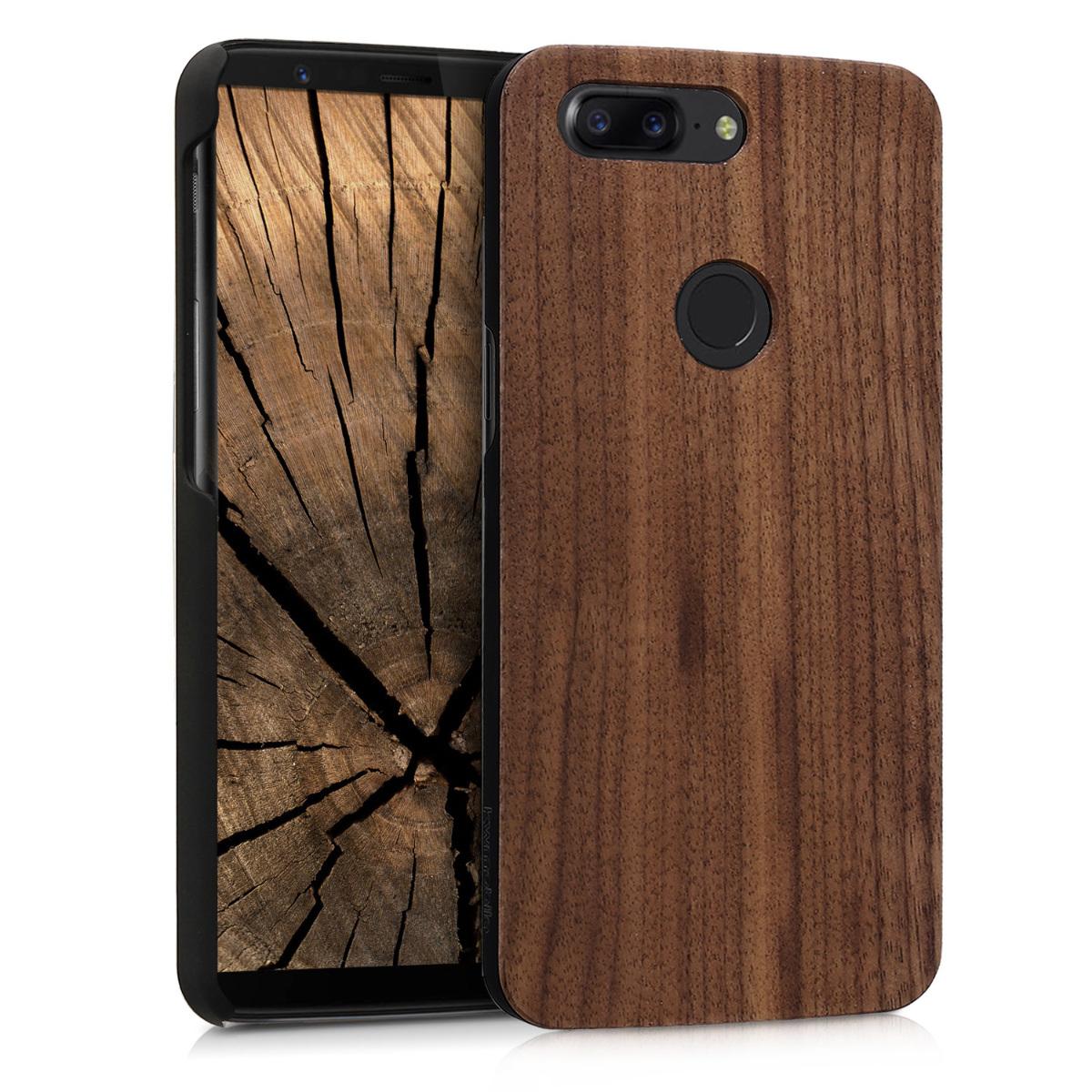 KW Ξύλινη Θήκη OnePlus 5T - Brown (43816.18)
