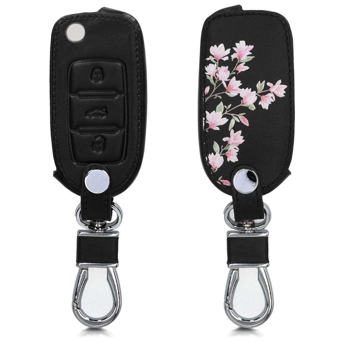 KW Θήκη Κλειδιού VW Skoda Seat -  3 Κουμπιά - Light Pink / White / Black (43950.14)