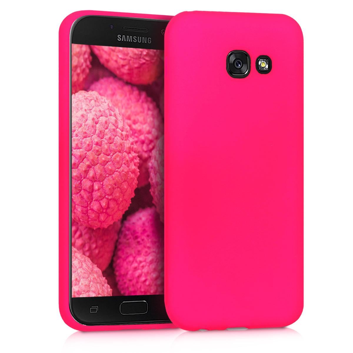 KW Θήκη Σιλικόνης Samsung Galaxy A5 (2017) - Soft Flexible Shock Absorbent - Neon Pink (44074.77)