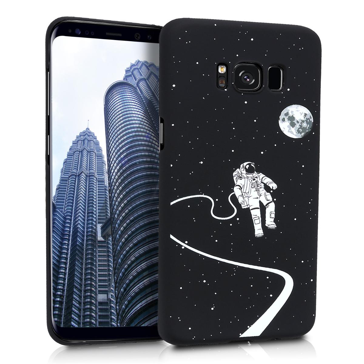 KW Slim Anti-Slip Cover - Σκληρή Θήκη Καουτσούκ Samsung Galaxy S8 - Μαύρο - Αστροναύτης (44082.02)